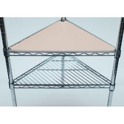PVC Shelf Liners - Triangle 18 x 18, Beige (2 Pack)