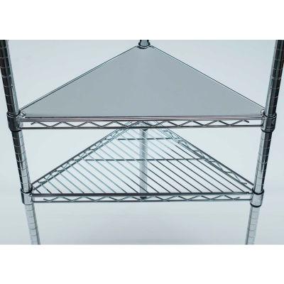 PVC Shelf Liners - Triangle 18 x 18, Grey (2 Pack)