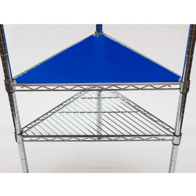 PVC Shelf Liners - Triangle 18 x 18, Light Blue (2 Pack)