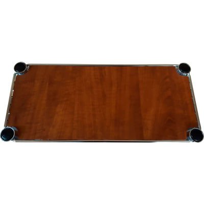 "Chadko WC 3 Wood Grain Plastic Shelf Liner - 36""W x 14""D Cherry"