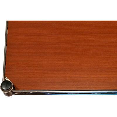 """Chadko WT 6 Wood Grain Plastic Shelf Liner - 48""""W x 18""""D Teak"""