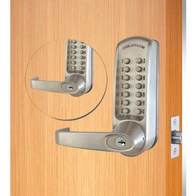 Codelocks ANSI Grade 2 Mechanical Lockset, CL610BB-BS, EZ Code Change, Dual Key Pads, Silver Gray