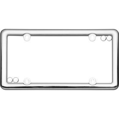 Cruiser Accessories Nouveau License Plate Frame, Chrome - 20630