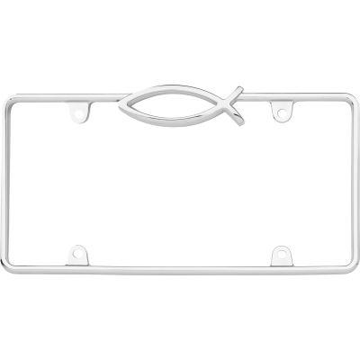 Cruiser Accessories Ichthus License Plate Frame, Chrome - 29003