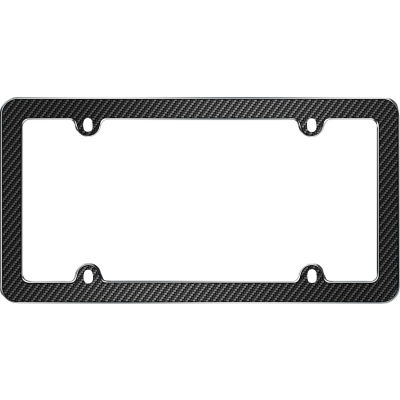 Cruiser Accessories Fiber License Plate Frame, Chrome/Black - 59053