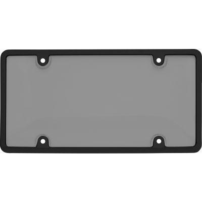 Cruiser Accessories Tuf Combo Novelty Plate Frame/Shield, Black/Smoke - 62052