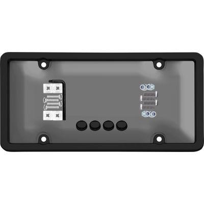 Cruiser Accessories Ultimate Tuf Combo Novelty Plate Frame/Shield, Black/Smoke - 62520