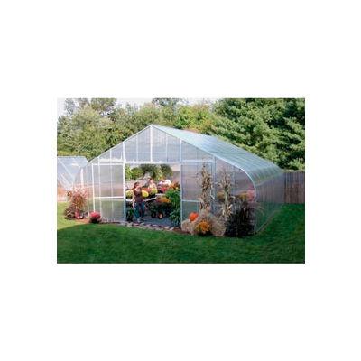 34x12x72 Solar Star Greenhouse w/Solid Polycarbonate, Gas Heater