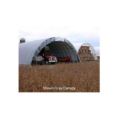 Econoline Storage Building 30'W x 15'H x 80'L Green Freestanding