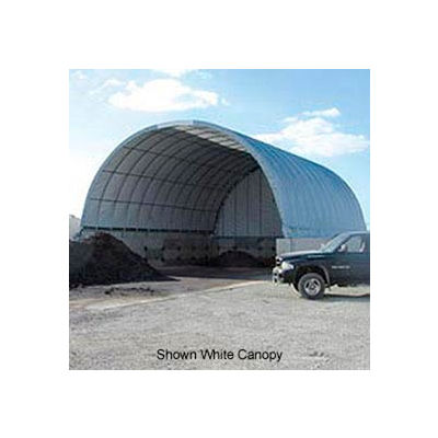 Econoline Storage Building 30'W x 15'H x 100'L Green Pony Wall