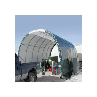 SolarGuard Freestanding Building 14'W x 10'H x 24'L on Wheels Gray