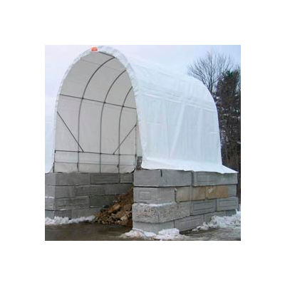 SolarGuard Freestanding Building 14'W x 14'H x 36'L on Wheels White