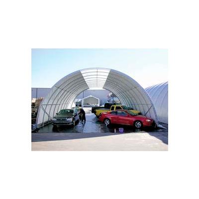 Freestanding Poly Building 30'W x 15'H x 48'L Tan