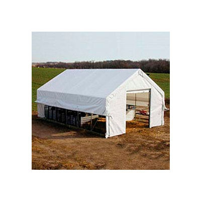 Moo-Tel Calf Nursery w/ Open Ends 26'W x 20'L White