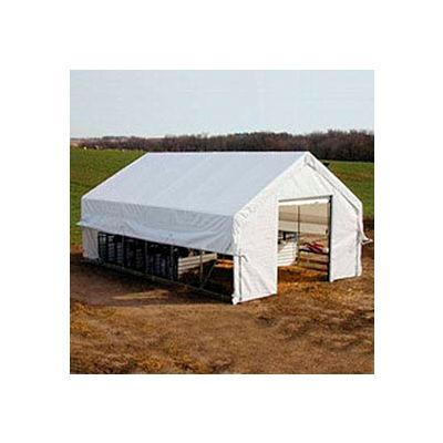 Moo-Tel Calf Nursery w/ Open Ends 26'W x 28'L White