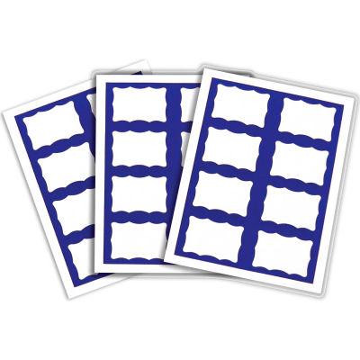 "C-Line® Laser/Inkjet Name Badge, 3-3/8"" x 2-1/3"", Blue Border, 200/Box"