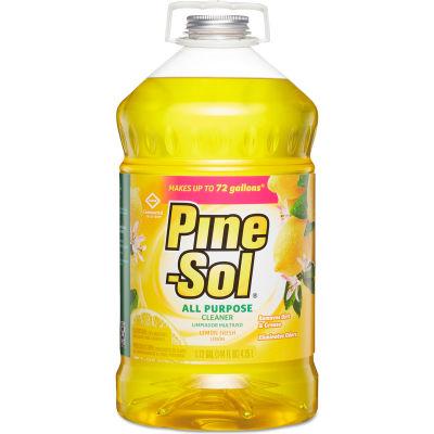 Pine-Sol® Multi-Surface Cleaner & Deodorizer, Lemon, 144 oz. Bottle, 3 Bottles - 35419