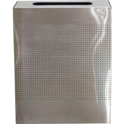 Witt Industries 40 Gal. Steel Decorative Rectangular Waste Receptacle, Stainless Steel - CLRC40-SS