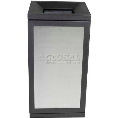 SECURR® Sentinel 36 Gal. Indoor Recycling Receptacle w/ Inward Slope - SS