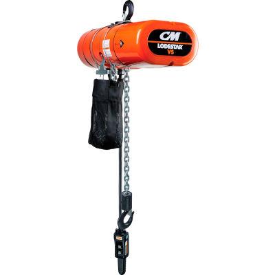 CM Lodestar VS Electric Chain Hoist, 1/2 Ton, 10' Lift, 5.3-32 FPM, 115-1-60, 3-Step IV Control