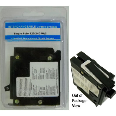 "Siemens® VPKICBQ130 Interchangeable 1"" Circuit Breaker 1-Pole 30A Clamshell Packaged"