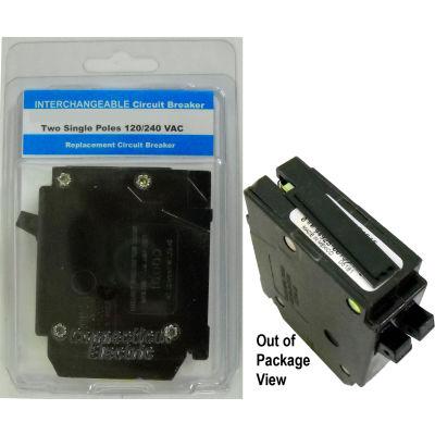 "Siemens® VPKICBQ1515 Interchangeable Twin 1"" Circuit Breaker Twin 1-Pole 15A/15A Clamshell PKG"