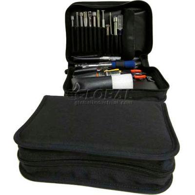 "CH Ellis Chicago Case 646-CD1, Single Zipper Tool Bag, 10""L x 8""W x 3""H, Black"