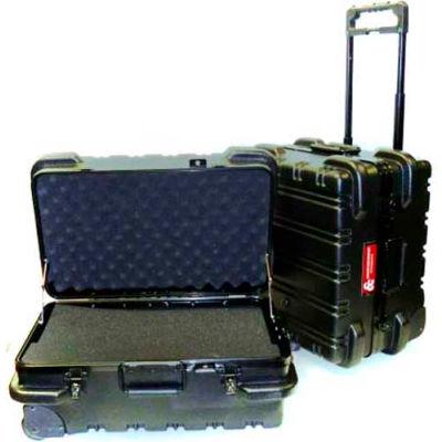 "CH Ellis Chicago Case MSCART2311F, Foam-Filled Wheeled Shipping Case, 24-1/2""L x 19""W x 12""H, Black"