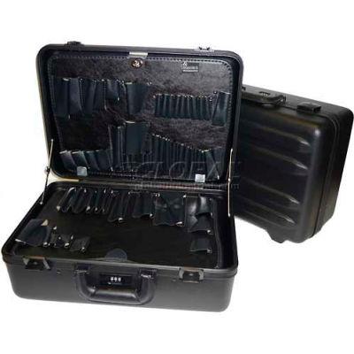 "CH Ellis Chicago Case MST8, 2 Pocket Pallet Tool Case w/Combo Lock, 18-1/2""L x 13""W x 8-1/2""H, Black"