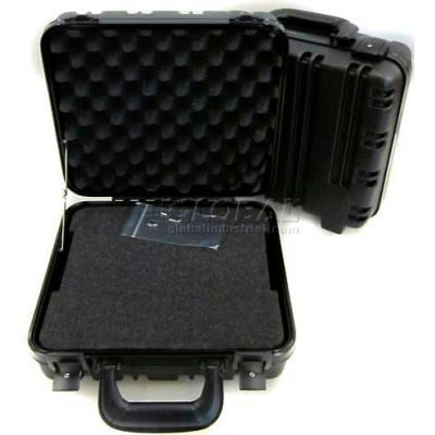 "CH Ellis Chicago Case 12114F, Foam-Filled Carrying Case, 13-1/2""L x 12-1/2""W x 6""H, Black"