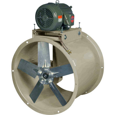 "Canarm 24"" Three Phase Belt Drive Tube Axial Duct Fan HTA24T30300M 3HP, 10800 CFM"