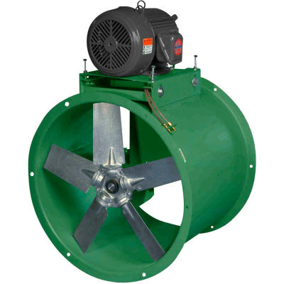 "Canarm 30"" Three Phase Belt Drive Tube Axial Duct Fan WTA30T30100M 1HP, 10800 CFM"