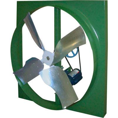 """Canarm XBL36T30050M 36"""" Belt Drive Three Phase Wall Fan  1/2HP 9870 CFM"""