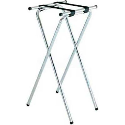 "Tray Stand, 19"" x 16"" Top x 36"" High, Extra Tall ""back-saver"", 2-1/4"" Black Straps (6 Per Case)"