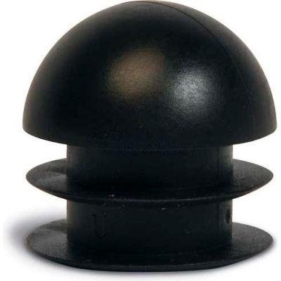 "Replacement Flat End Plug, 1"", Black, 24/Pk."