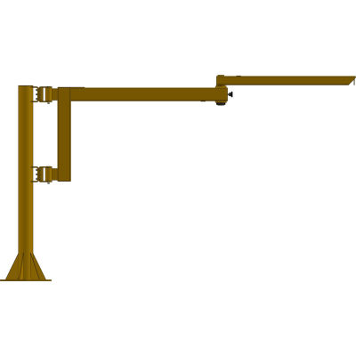 Contrx Medium-Duty Free-Standing Articulating Jib Crane, 250 Lb. Cap, 12' Span, 14' UnderBeam Height
