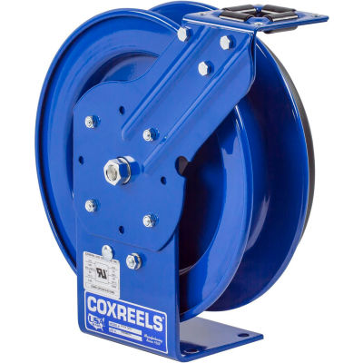 Coxreels PC13L-5012 Power Cord Spring Rewind Reel: 12AWG, 50' Less Cord & Accessory