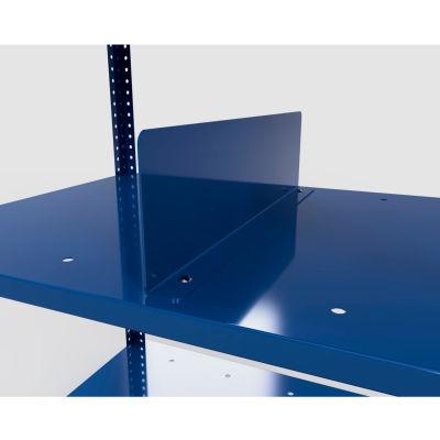 "Stackbin Corrugate Rack Divider, 16 Gauge, 1"" W x 22""D x 6""H - Blue"