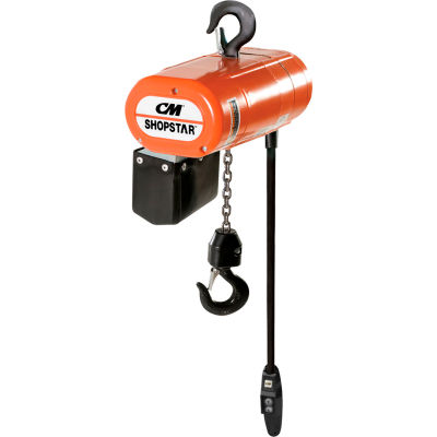 CM® ShopStar 300 Lb. Electric Chain Hoist, 10' Lift, 16 FPM, 110V