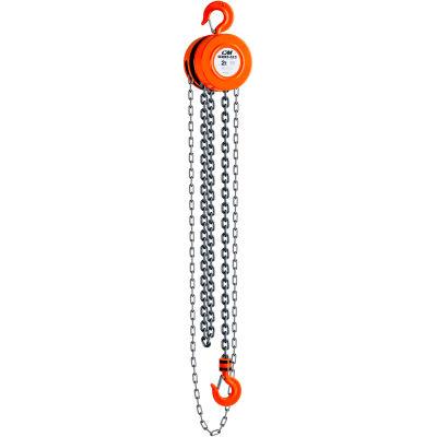 CM Series 622 Hand Chain Hoist, 2 Ton Capacity, 20Ft. Lift