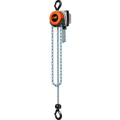 CM Hurricane 360° Hand Chain Hoist, 1/2 Ton, 30 Ft. Lift