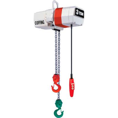 CM 2 Ton, Coffing EC Electric Turnover Hoist, 15' Lift, 16 FPM, 230/460V