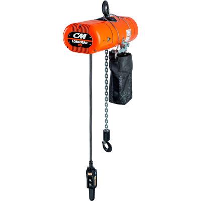 CM Lodestar VS 1/4 Ton, Electric Chain Hoist, 10' Lift, 32 FPM, 460V