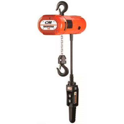 CM® Shopstar 250 Lb. Electric Chain Hoist, 10' Lift, 63 FPM, 100/240, 208/575V