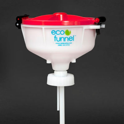 "ECO Funnel® EF-30020 8"" ECO Funnel with 70mm Cap Adapter, Red Lid"