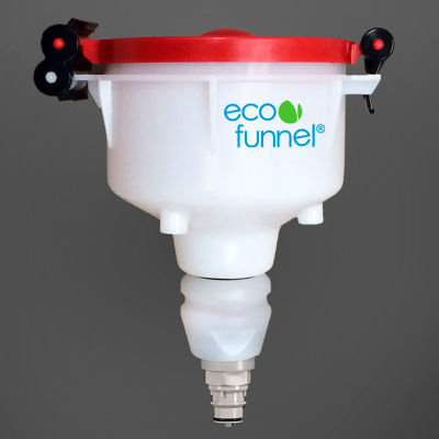 """ECO Funnel® EF-4-38-006N 4"""" ECO Funnel with Polypropylene Quick Disconnect Adapter, Red Lid"""