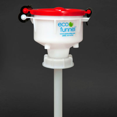 """ECO Funnel® EF-4-63B 4"""" ECO Funnel with 63mm Cap Adapter, Red Lid"""