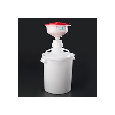 """ECO Funnel® EF-8-83C-SYS 8"""" ECO Funnel System, 10 Liter Carboy & Secondary Container, Red Lid"""