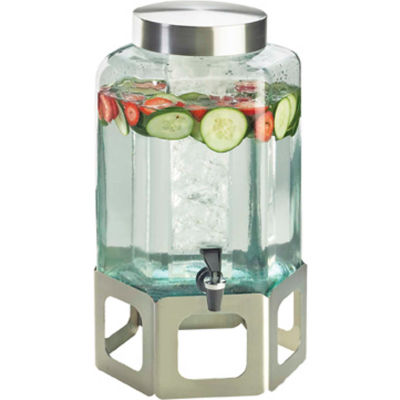"""Cal-Mil 1111-55 Cutout Beverage Dispenser W/Ice Chamber 2 Gallons 10-3/4""""W x 11-1/2""""D x 22-3/4""""H SS"""
