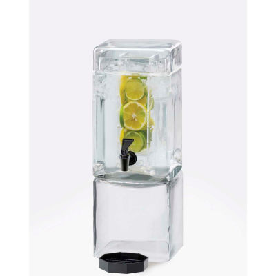 """Cal-Mil 1112-1INF Square Glass Infusion Dispenser 1-1/2 Gallon 7-1/8""""W x 9-1/8""""D x 18-1/2""""H"""